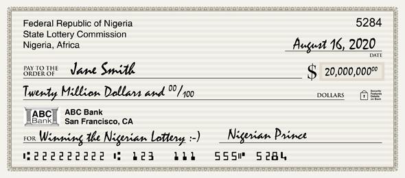 Nigerian Prince Check