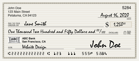 check with extra routing number digits