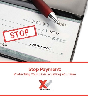 Stop Payment guarantees you funds when customers refuse to pay