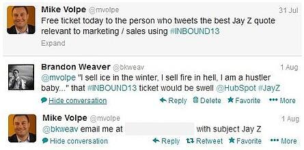 HubSpot Inbound Jay Z Tweet