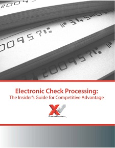 Electronic check processing eliminates trips to the bank