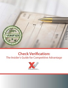Check Verification authorizes check payments