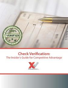 Check Verification authorizes check payments