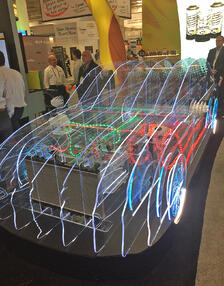 3D Wire Frame Car