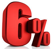 6 percent interest rate