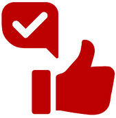Thumbs up with a check mark