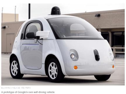 Google Self-Driving Prototype courtesy of Eljah Nouvelage, Reuters