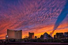 Las Vegas painted sky