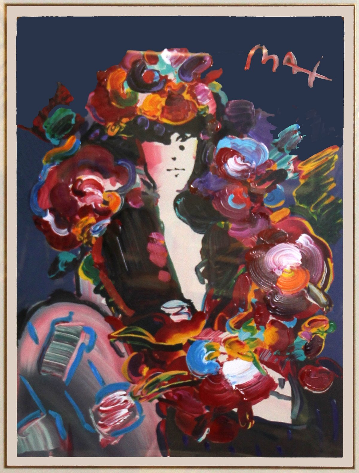 Lady in Brown by Peter Max
