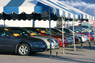 Used Cars Under Tent