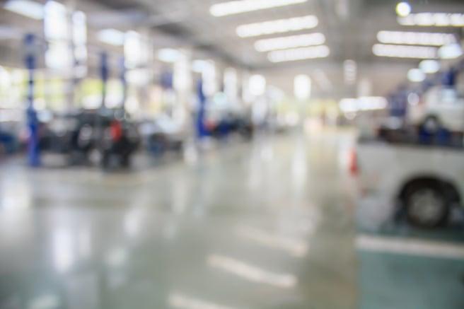 auto repair center soft focus