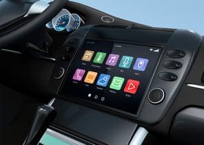 car technology screen