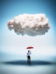 clouds rain umbrella