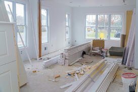 dry wall and baseboard