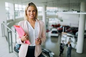 female auto salesperson