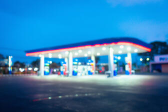 gas station soft focus