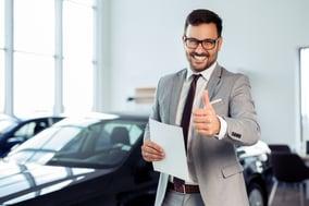 happy car salesman