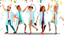 Dentists socializing partying celebration