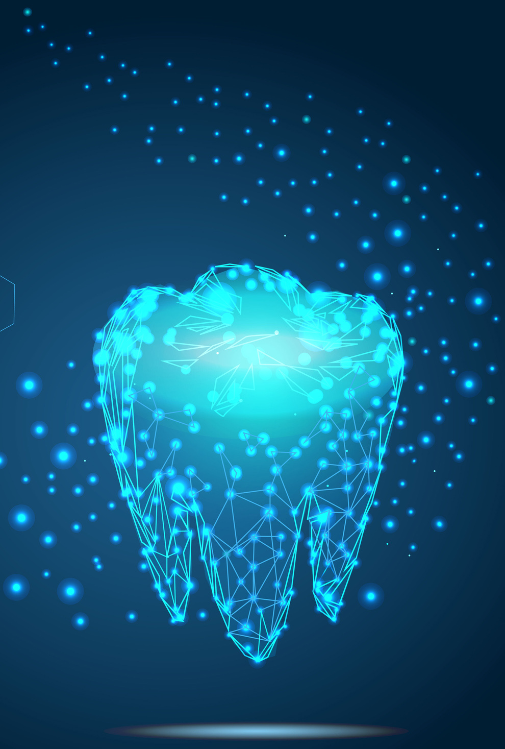 Cool graphic digital tooth