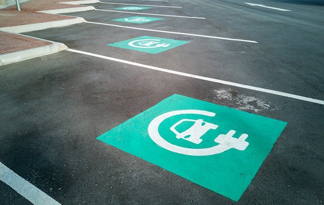 parking for electric  cars-1
