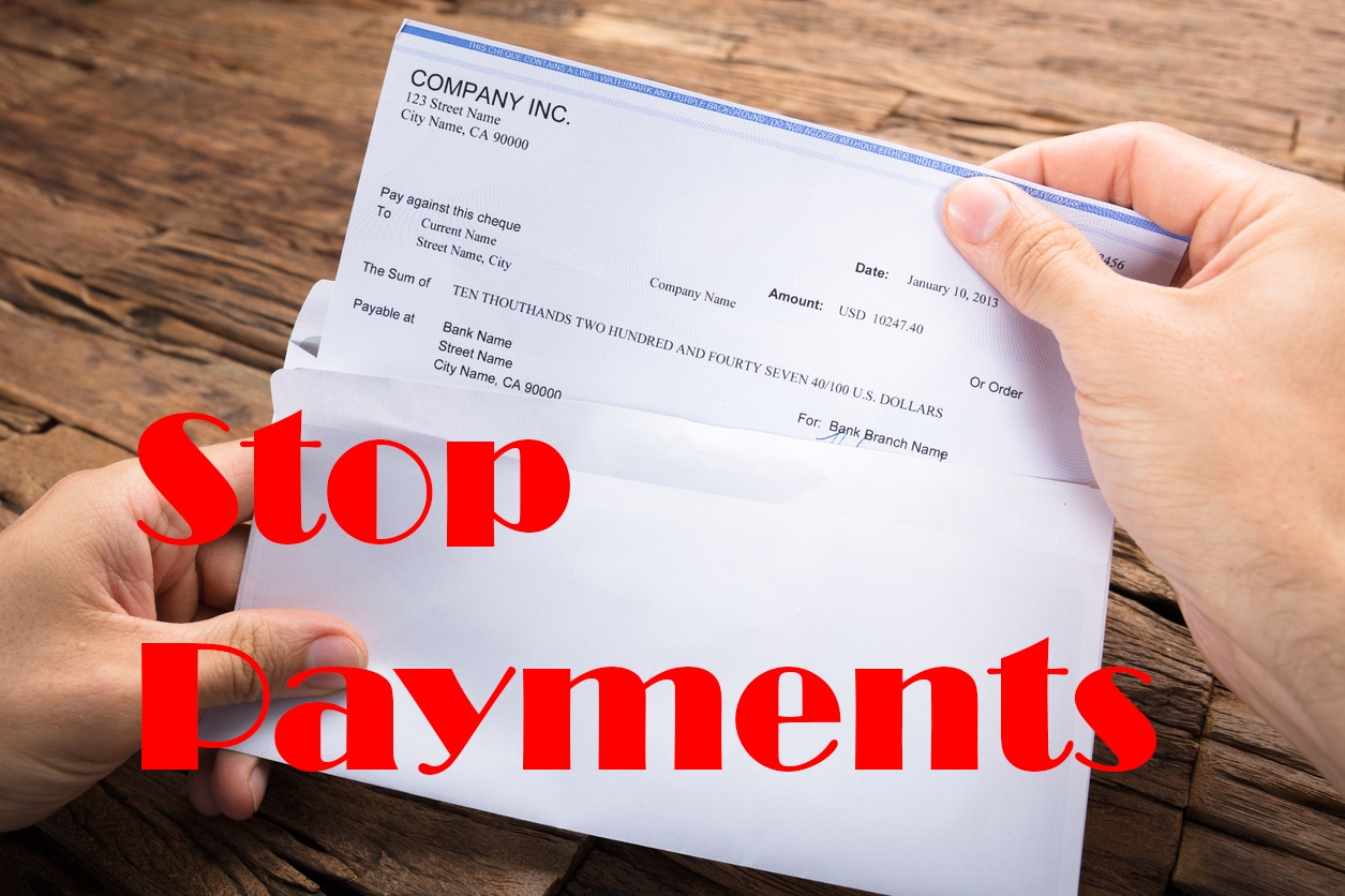 stop payments